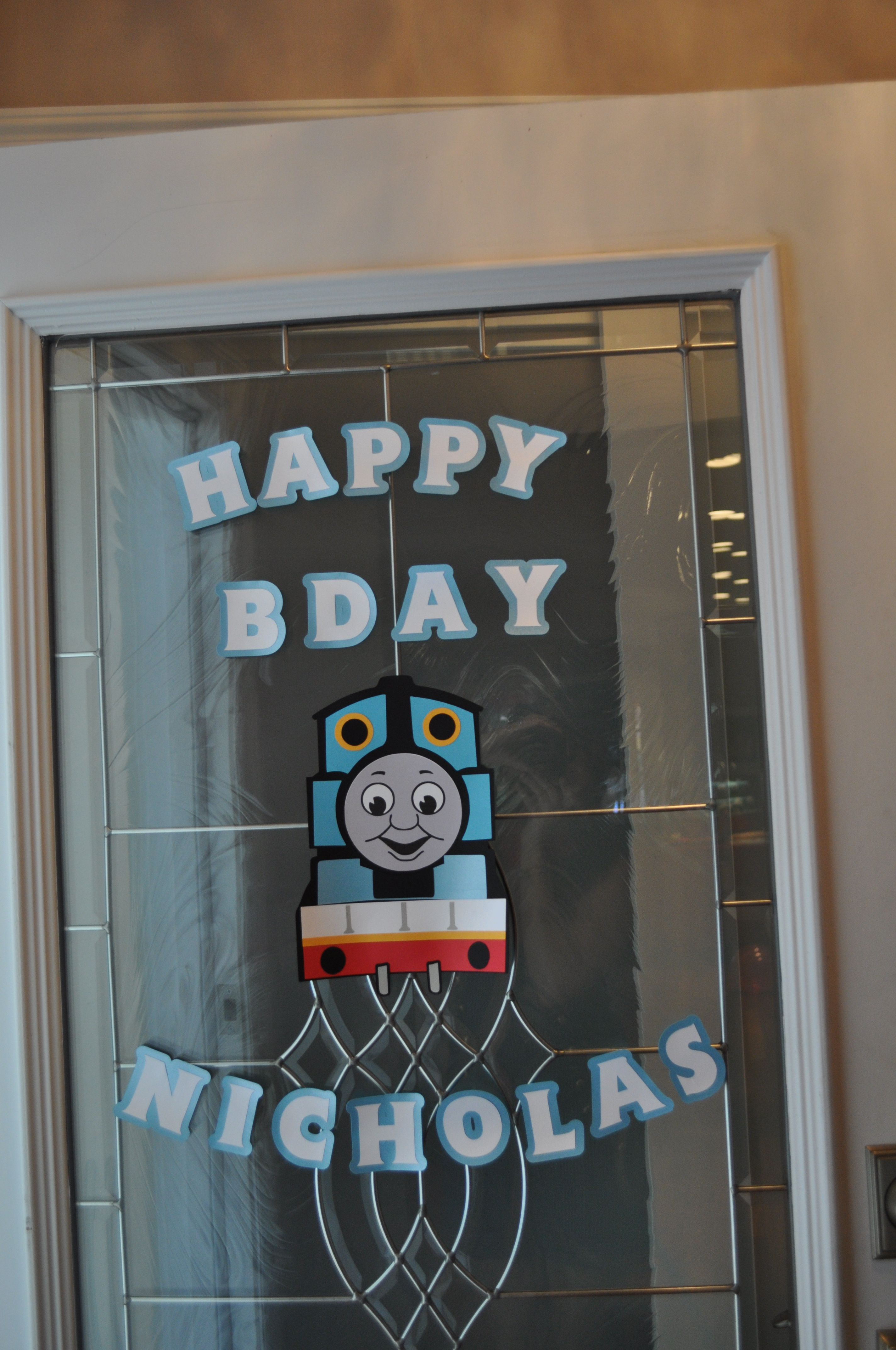 Thomas the train Front Door Sign made with my Silhouette Cameo & Thomas the train Front Door Sign made with my Silhouette Cameo ... pezcame.com