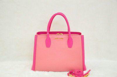 49c12d99562 2013 Latest Miu Miu Bicolor Calfskin Leather Tote RN0883. Miu Miu  HandbagsHandbags ...