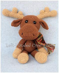 Marty the Moose free crochet pattern #crochetanimals
