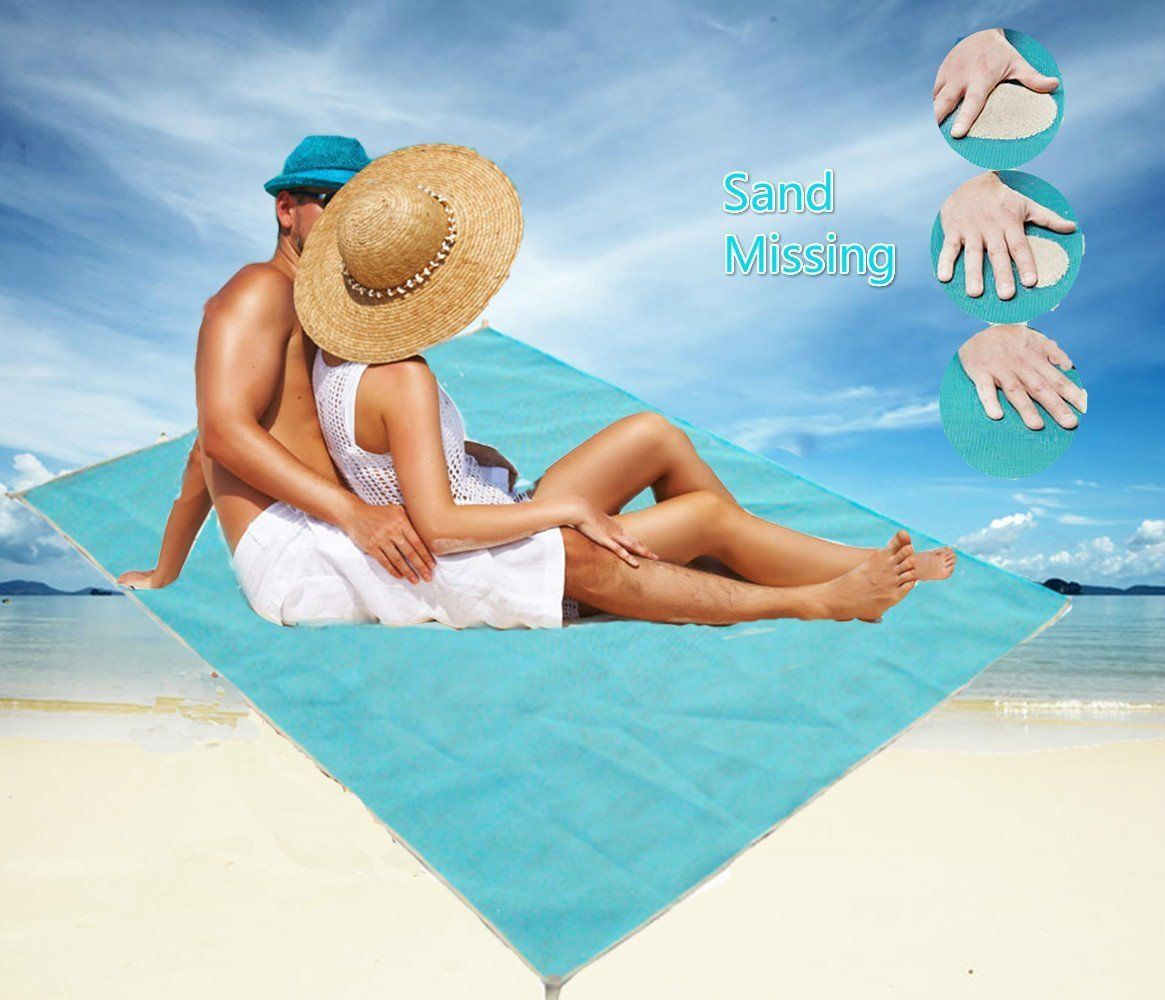 Sand Free Beach Blanket Sand Proof Blanket Sand Free Mat Sand Beach Mat Dirt Dust Disappear Sand Proof Sand Dirt Dus Sand Backyard Beach Sand Beach Mat
