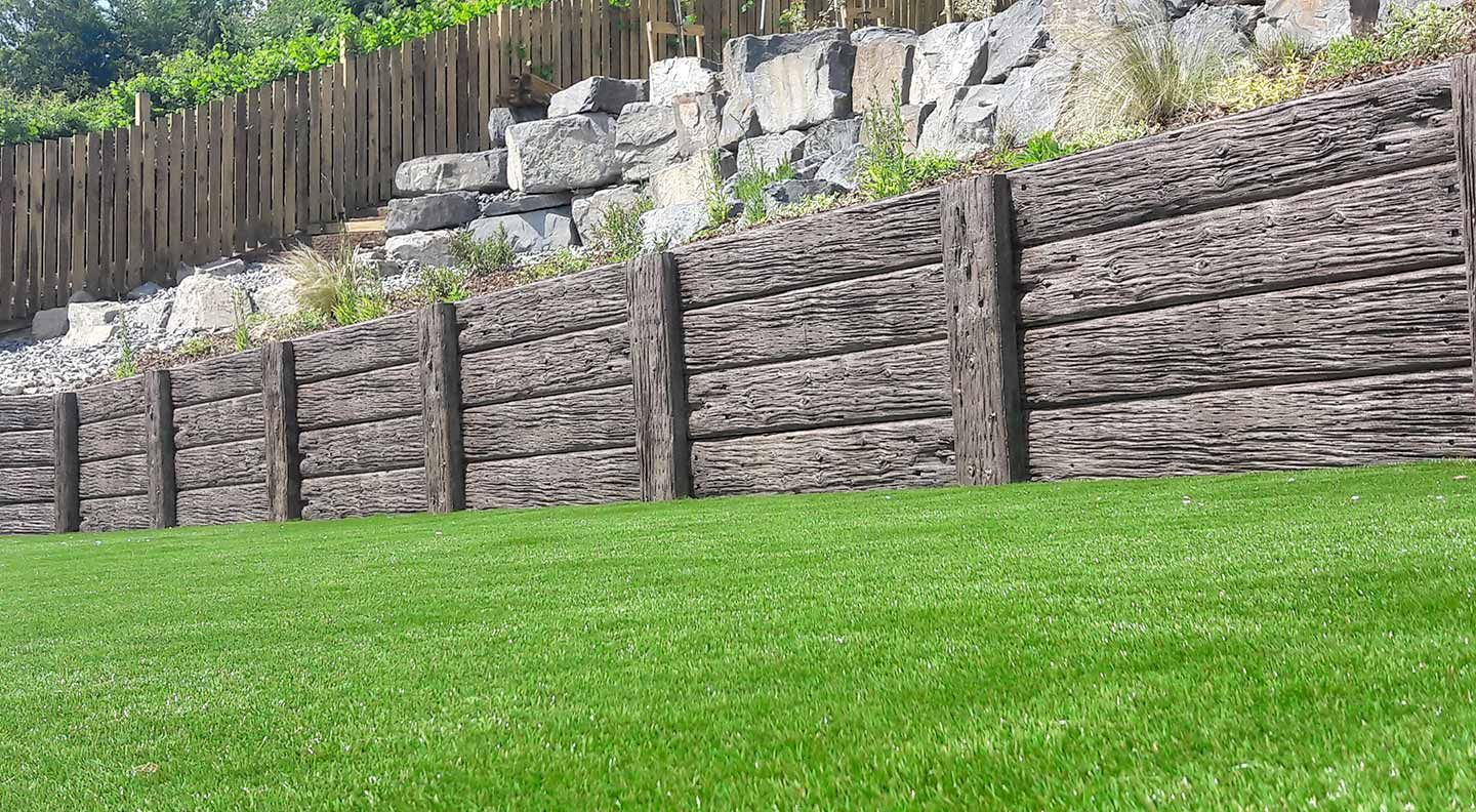 Timber Effect Concrete Sleepers Retaining Walls Team Elite In 2020 Concrete Sleepers Concrete Sleeper Retaining Walls Retaining Wall