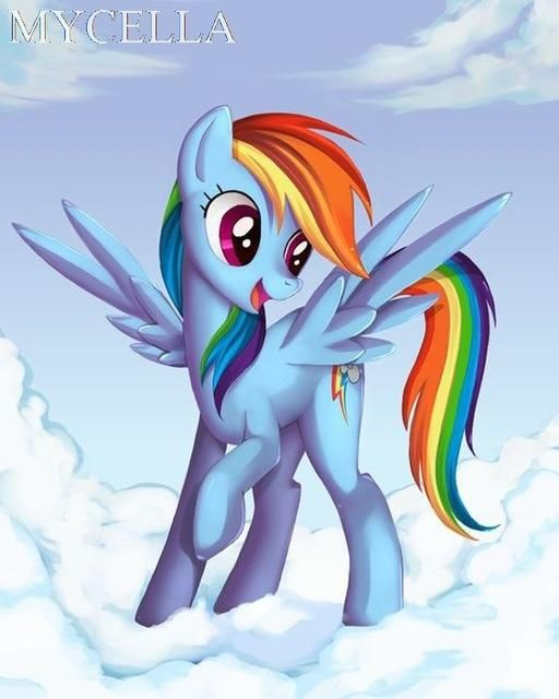5d Diamond Painting Rainbow Dash On A Cloud Kit