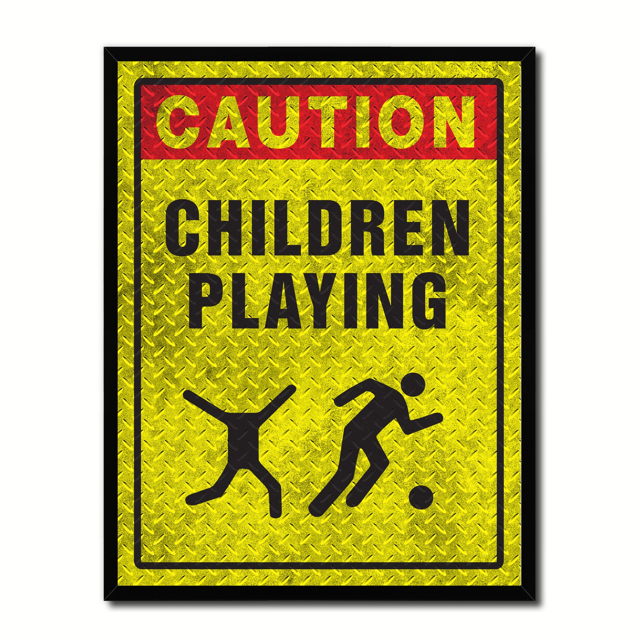 Caution Children Playing Caution Sign Gift Ideas Wall Art Home D?cor ...