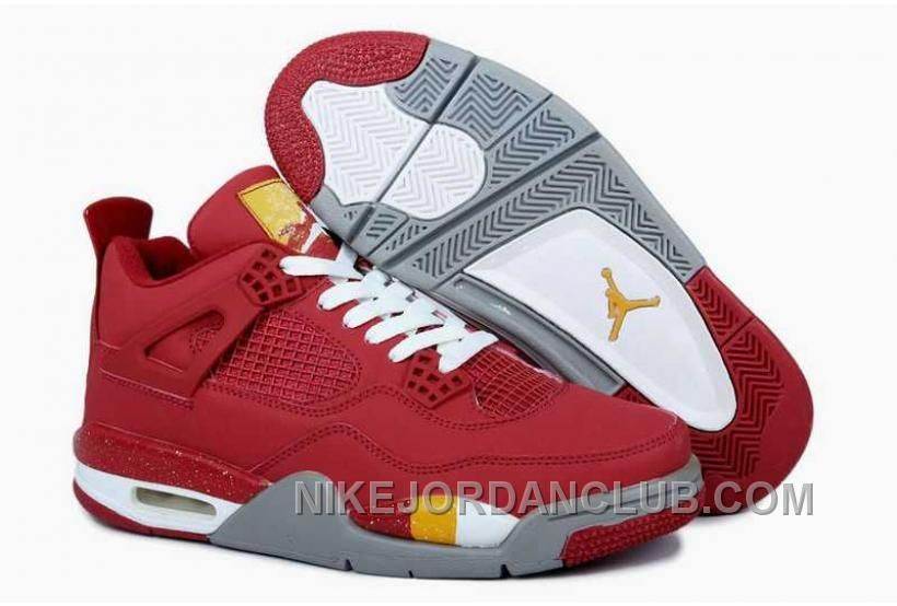 Nike Air Jordan 4 King Collect Edition Red Grey Shoes