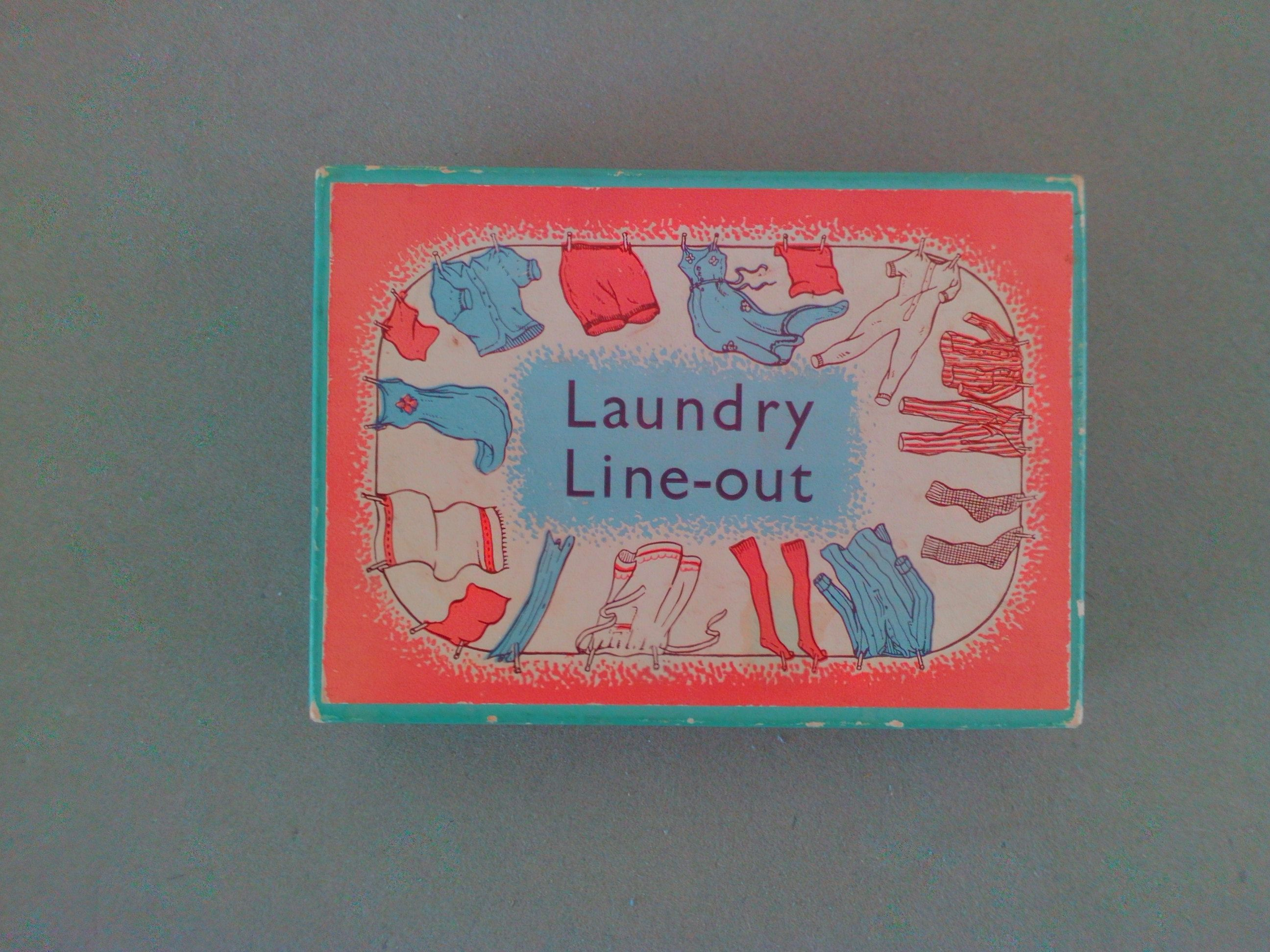 Laundry Line Out Playing Cards 1950s Vintage Card Game Childrens