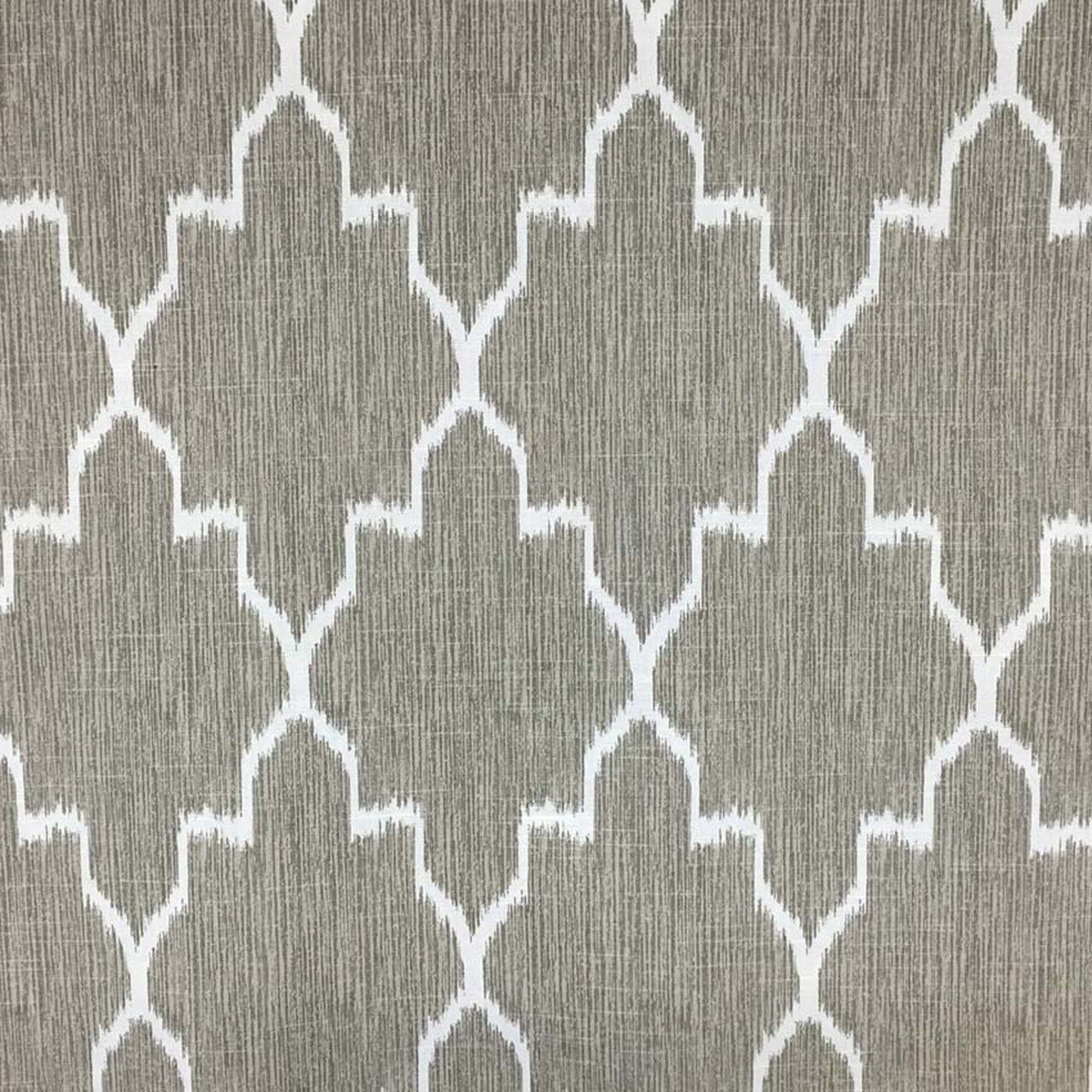 Taupe Ikat Drapery Curtain Fabric By The Yard With Images