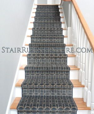There Are Many Options For Stair Runners When Using A Broadloom Carpet  Product. This Photo