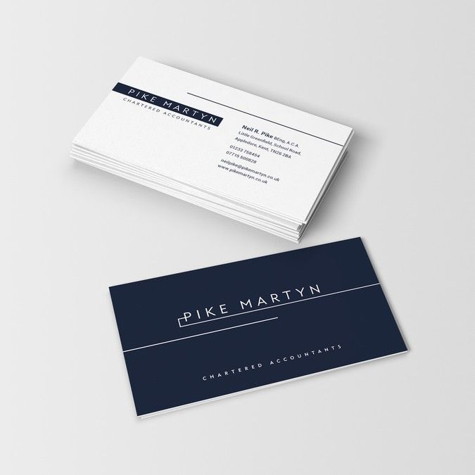Design A Sophisticated Minimalistic Logo And Business Card For Chartered Accountants By Ann Business Card Logo Business Card Design Modern Business Cards
