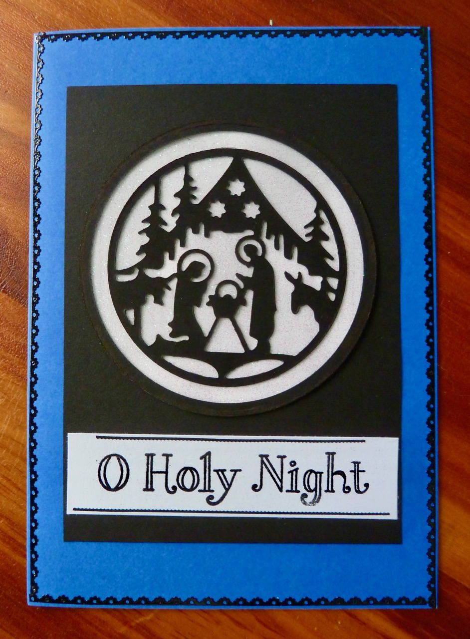 Christmas Card Handmade Religious Christmas Card 5x7 Manger Scene