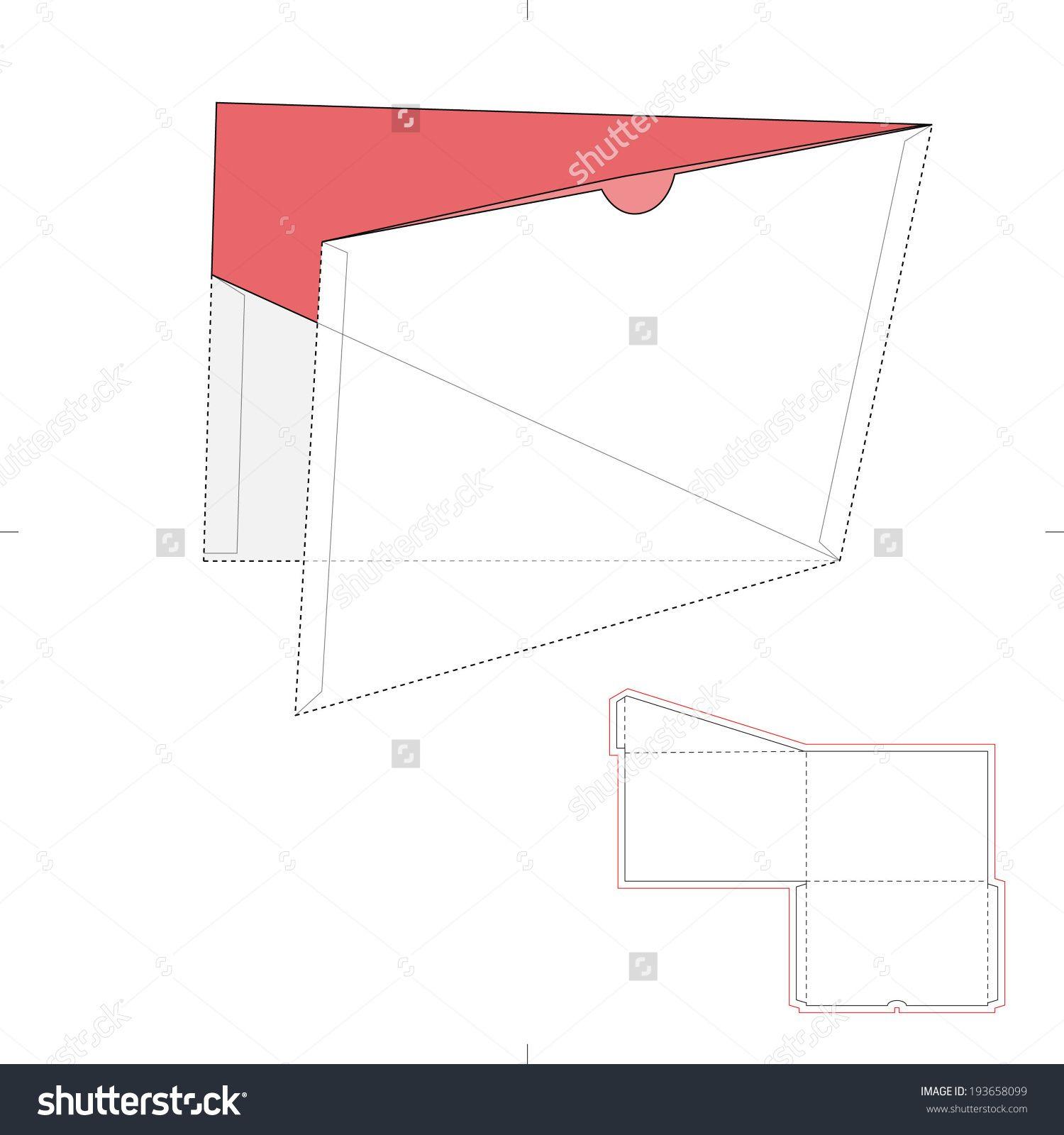 Presentation Folder With Die Cut Layout Stock Vector Illustration ...
