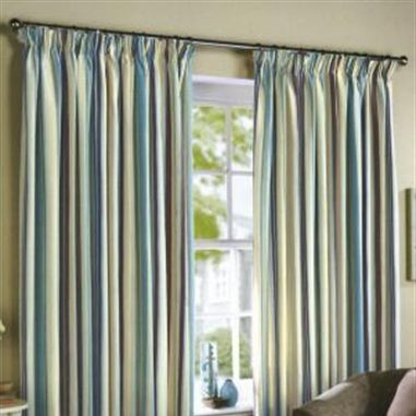 Duck Egg Blue Striped Curtains - Curtains Design Gallery