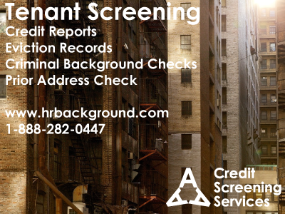 Get tenant credit reports, eviction records, prior address