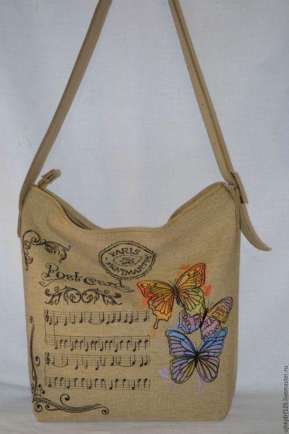 84cace5e478b Женские сумки ручной работы. Ярмарка Мастеров - ручная работа. Купить  Летняя текстильная сумка с вышивкой. Handmade. Комбинированный