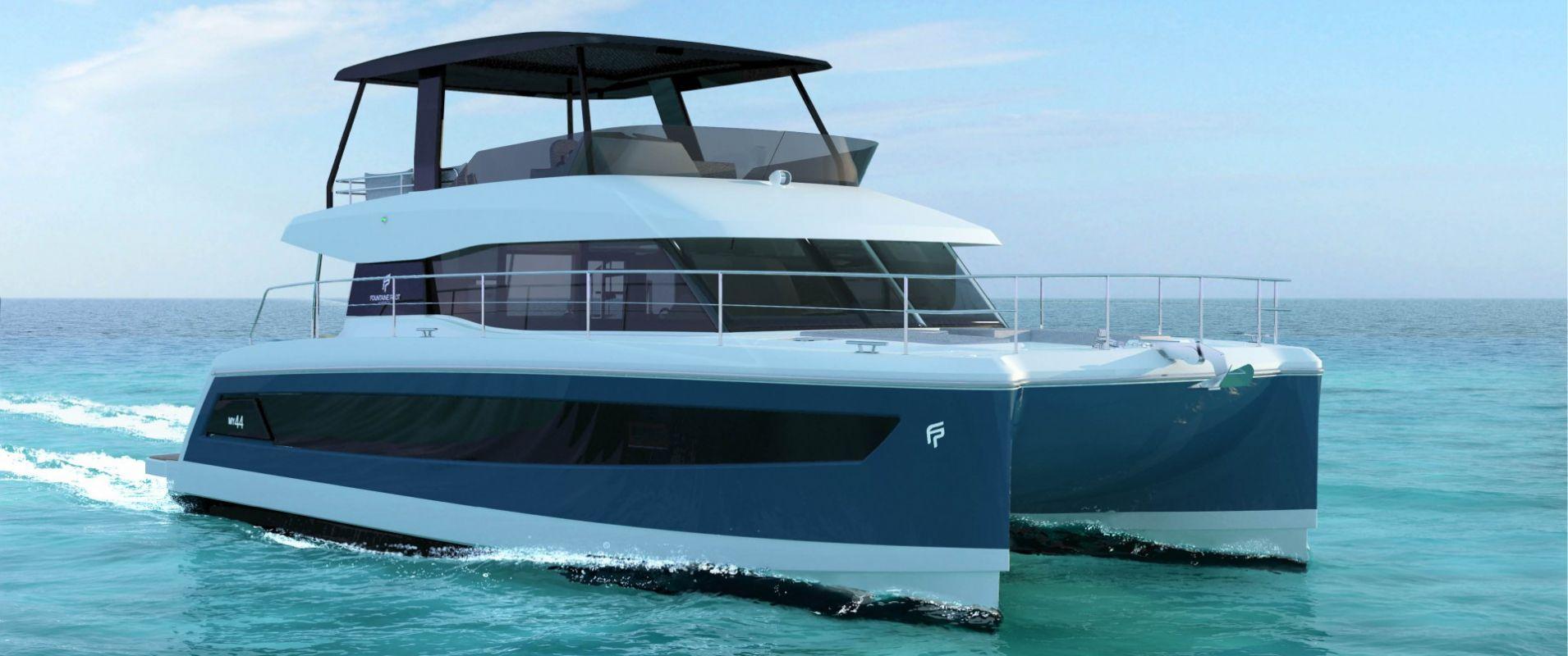 Power catamaran designs - Power Catamaran My 44 Fountaine Pajot