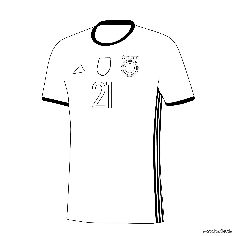 Das #Trikot der #DFB-Mannschaft. Mit diesem #Ausmalbild können die ...