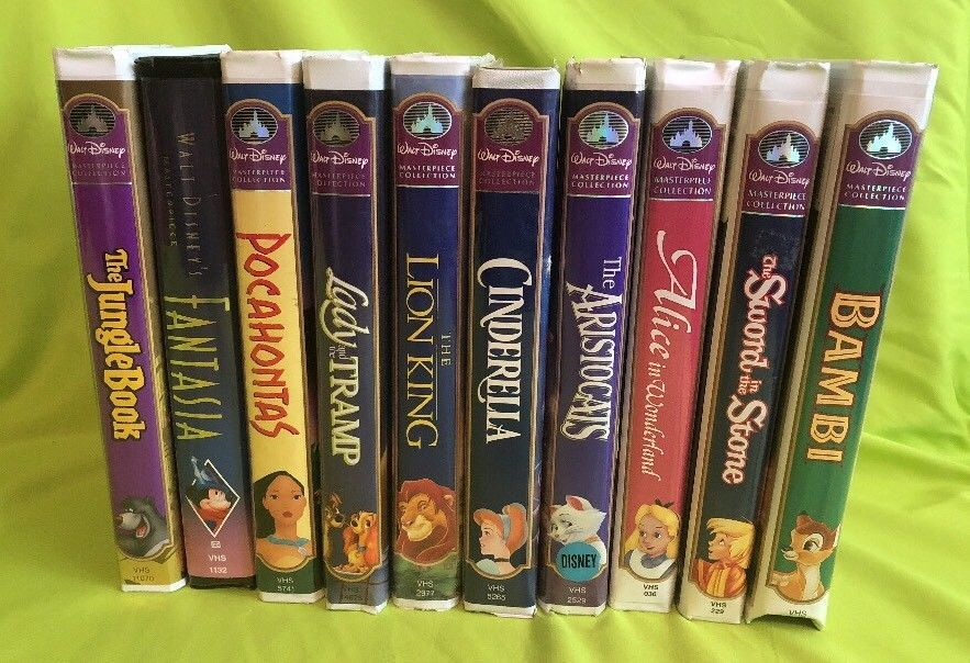 Walt Disney Masterpiece Collection Lot Vhs Movies Fantasia Bambi Cinderella Fantasia Vhs Movie Walt Disney