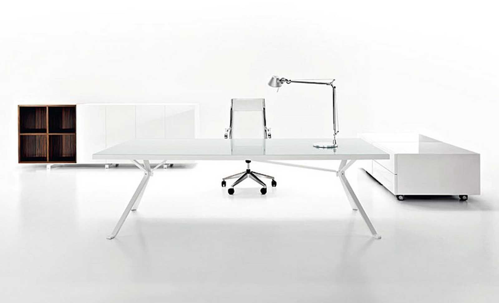 white modern designer office furniture executive - Contemporary Desk Designs