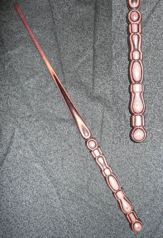 KINGWOOD Handmade MAGIC WAND Pagan Wicca Fairy by gildedquill