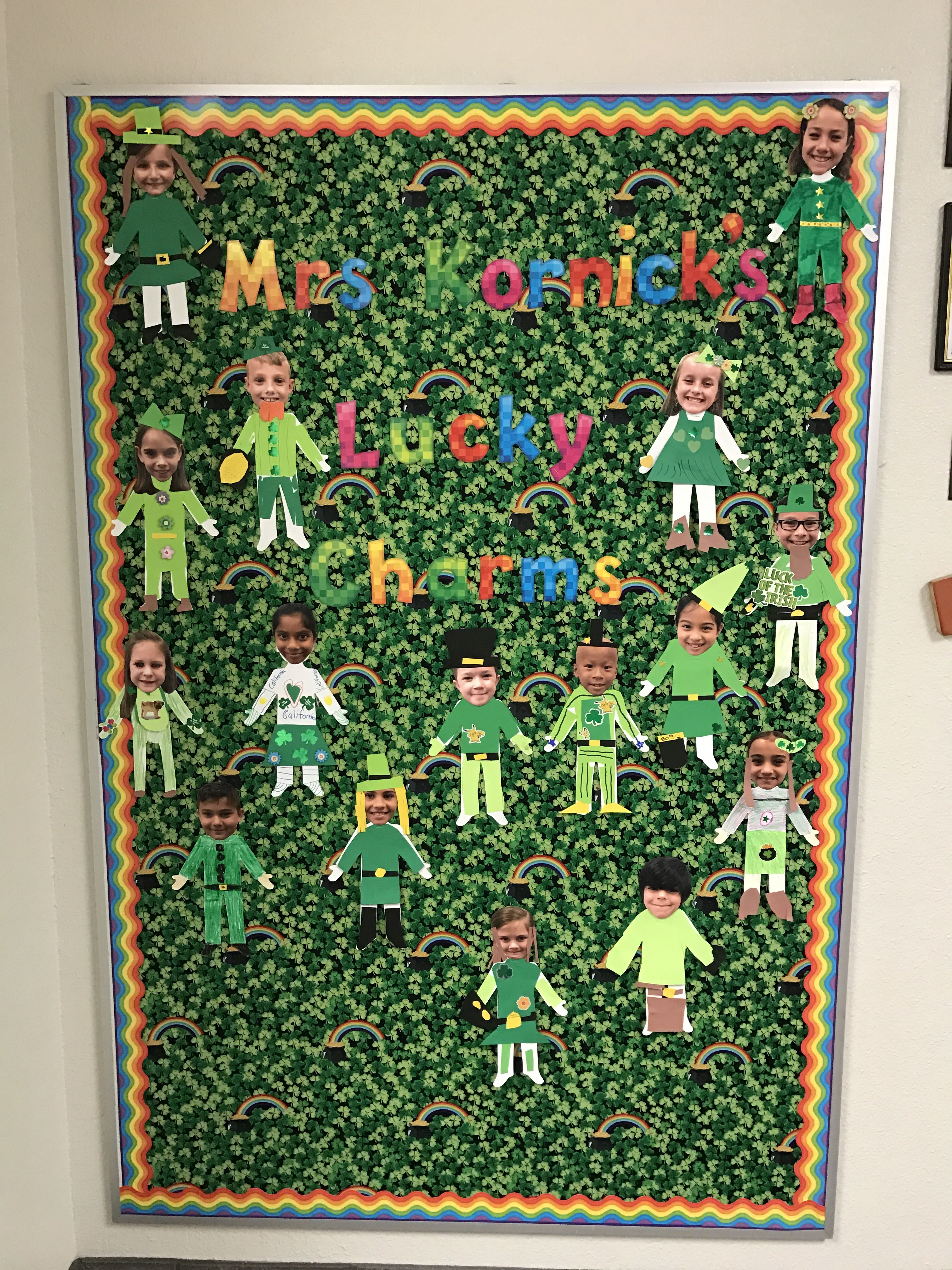 Second Grade St Patrick S Day March Bulletin Board Lucky