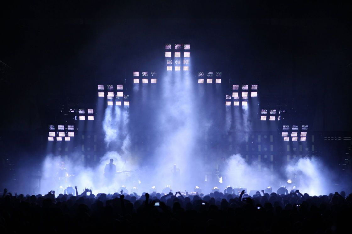 "Nine Inch Nails stage design by LeRoy ""Roy"" Bennett for their 2013 ..."