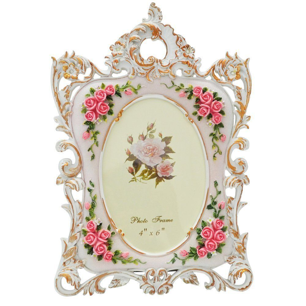 amazoncom gift garden picture frame rose printing flower carvin frame top