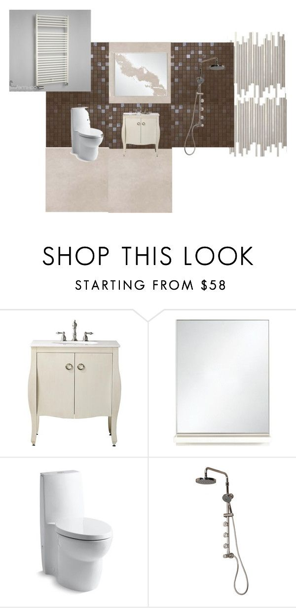 """1"" by vydrik on Polyvore featuring interior, interiors, interior design, дом, home decor, interior decorating, Home Decorators Collection, Kohler и Pulse"