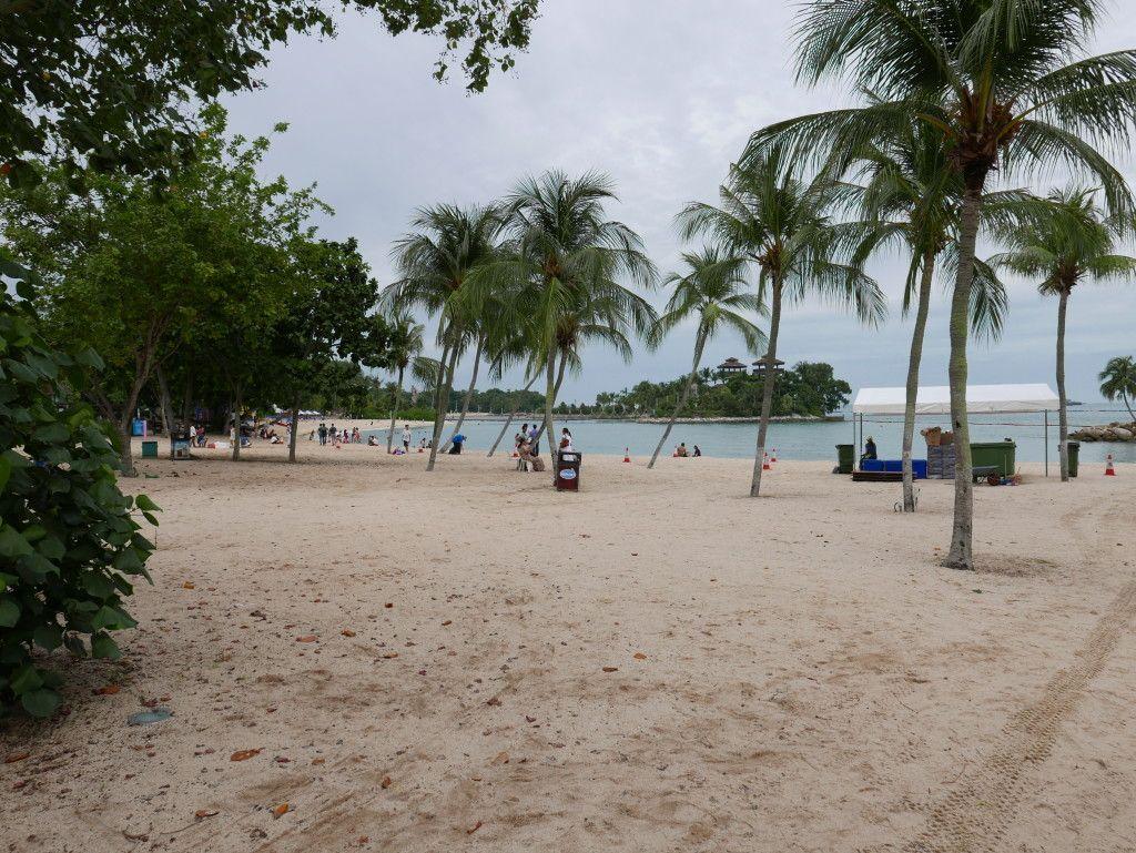 Beach In Singapore Sentosa Island Beach Resort Area