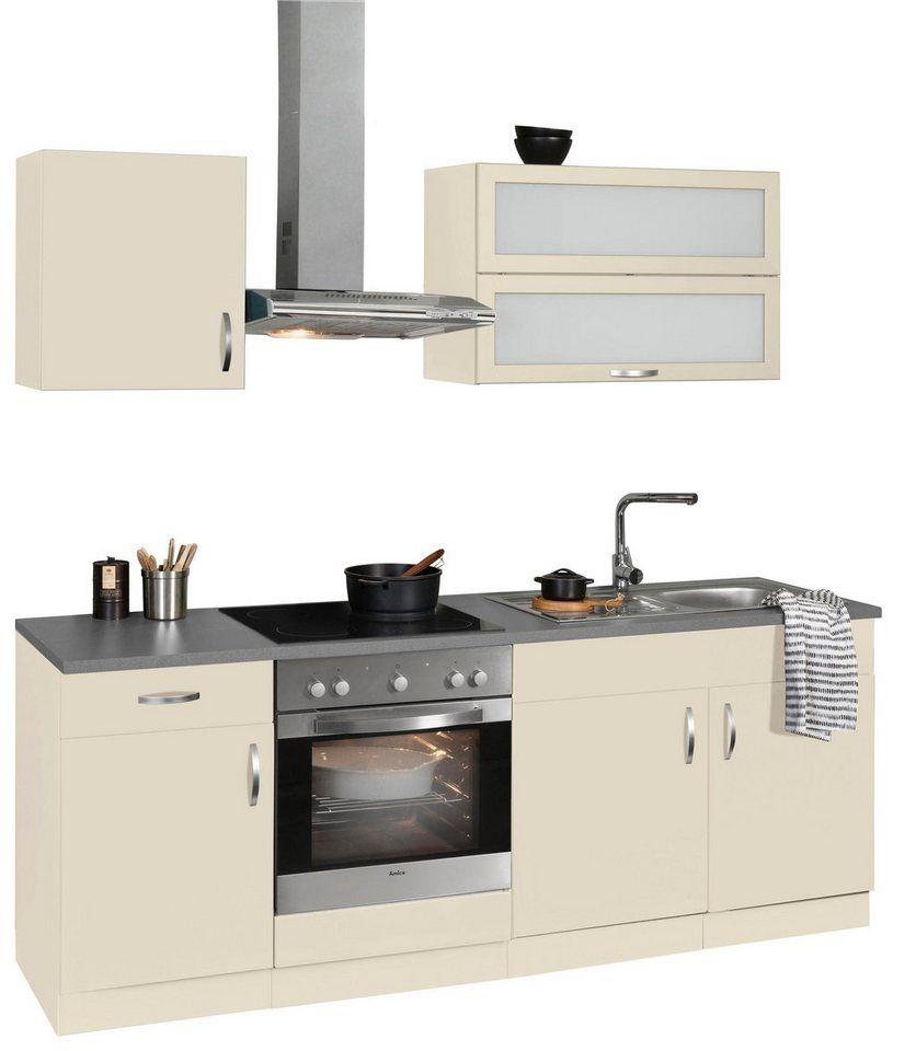 WIHO Küchen Küchenzeile Mit E Geräten »Amrum«, Breite 210 Cm Ab 999