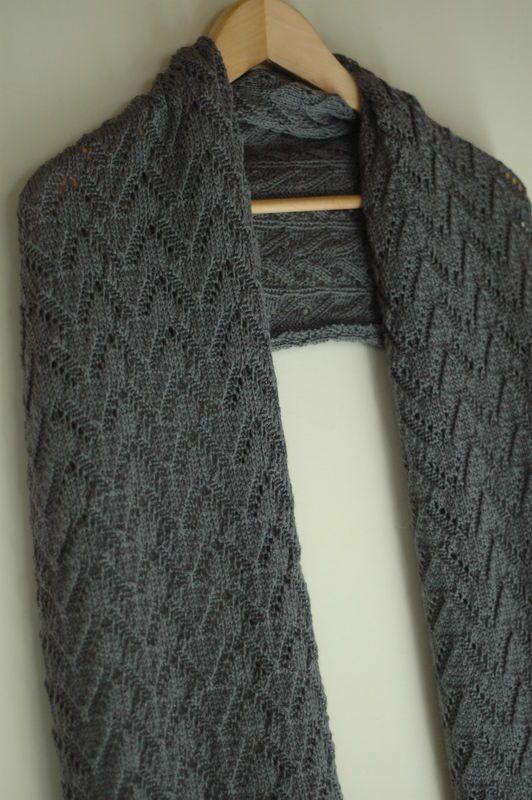 tricoter une echarpe sympa