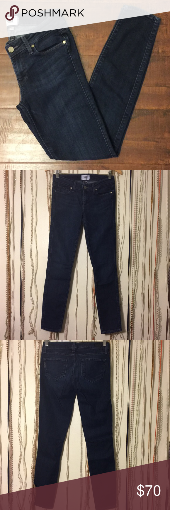 """PAIGE Verdugo Ultra Skinny PAIGE Verdugo Ultra Skinny  44%Cotton 30%Lyocell 26%Elastomultlester  Made in U.S.A  Inseam: 28"""" Out Seam: 35 1/2 Leg Opening: 5"""" Front Rise: 7 1/2 Hips: 15 1/2  🕊I accept reasonable offers!! I truly do! With the exception of items labeled """"Price Firm""""  🕊Serious buyers please & No Low ballers!  To me it's asking half or more off an item is Low Balling. Paige Jeans Jeans Skinny"""