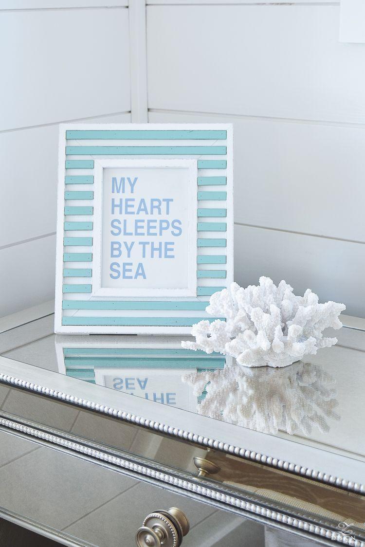 My Heart Sleeps By The Sea Beach House Decor Beach House Design