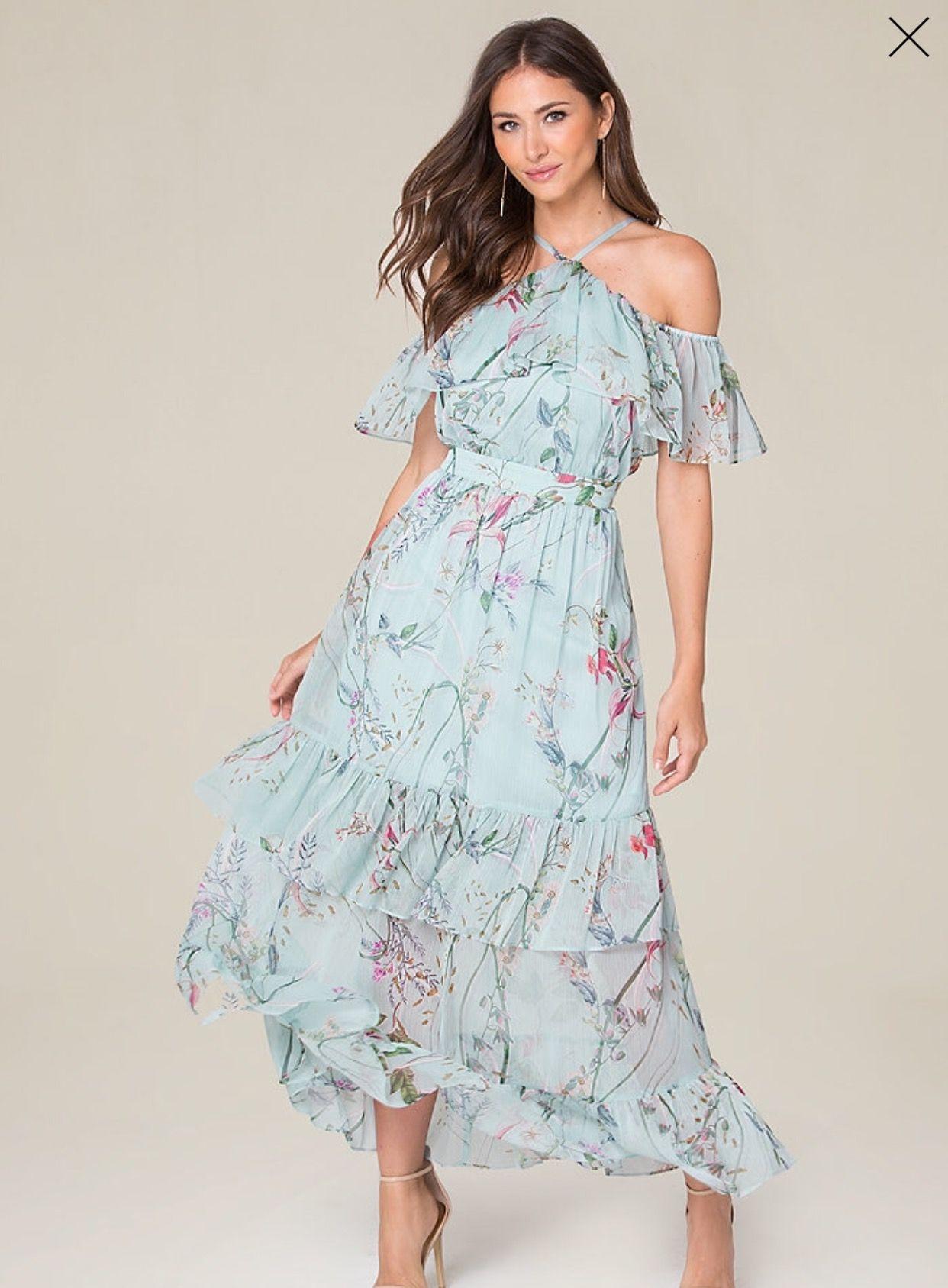 Crinkle Chiffon Maxi Dress | E2: bebe 2 | Pinterest | Chiffon maxi ...