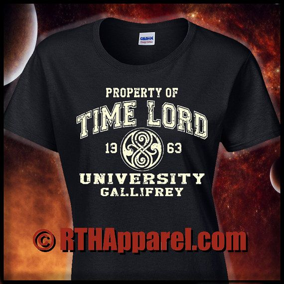 DOCTOR WHO Inspired Heavy Cotton T-Shirt. by RTHCustomApparel