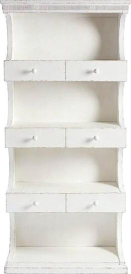 Juniper Dell Bookcase 17th Century White Stanley
