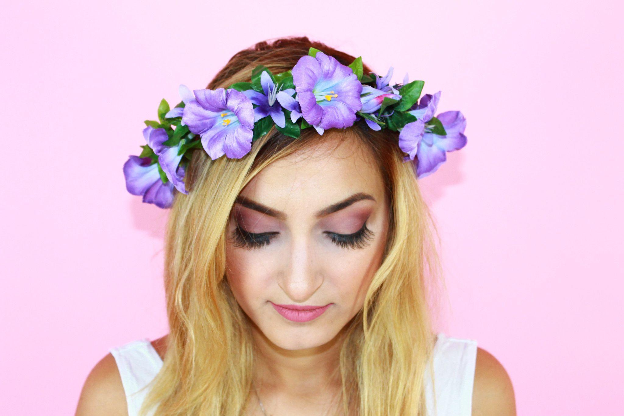 Flower Crown - Purple Wish | Flower crown | Pinterest | Flower ...
