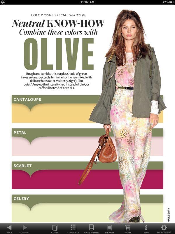 Instyle Olive Folder Clothes Blogging Pinterest Color