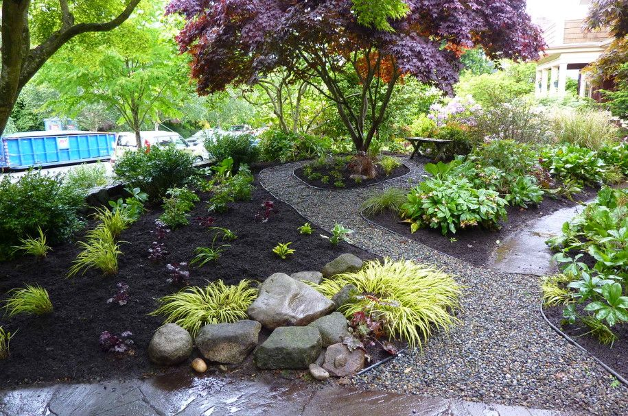 Wonderful Japanese Landscaping Ideas For Front Yard Part - 9: Front Yard Landscape Design Exterior Cool Outdoor Front Landscape Design  Yard Garden Design Stunning For Modern Japanese House With Path And Pebble  Decor ...