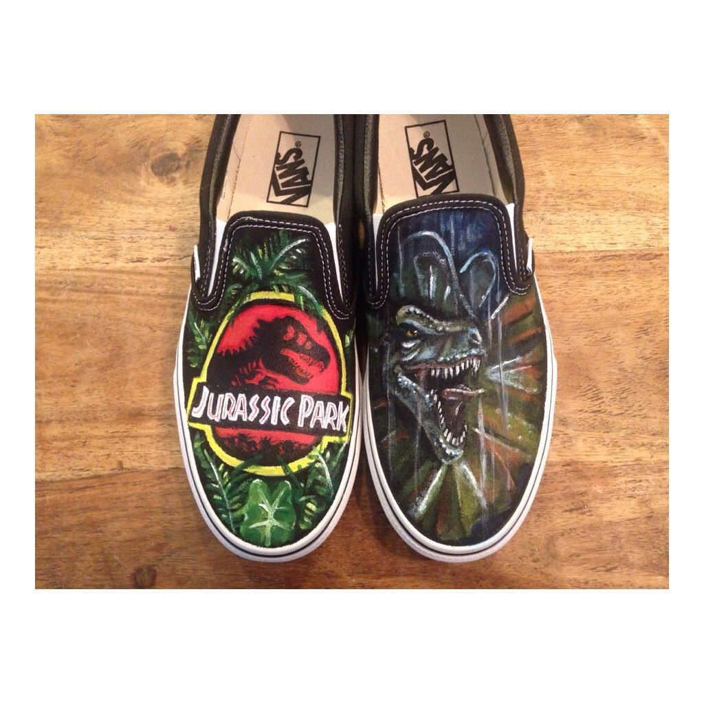 Etsy Picks of the Week  Jurassic Park - Custom Shoes by KTsCustomKicks 9dfaf17228bc