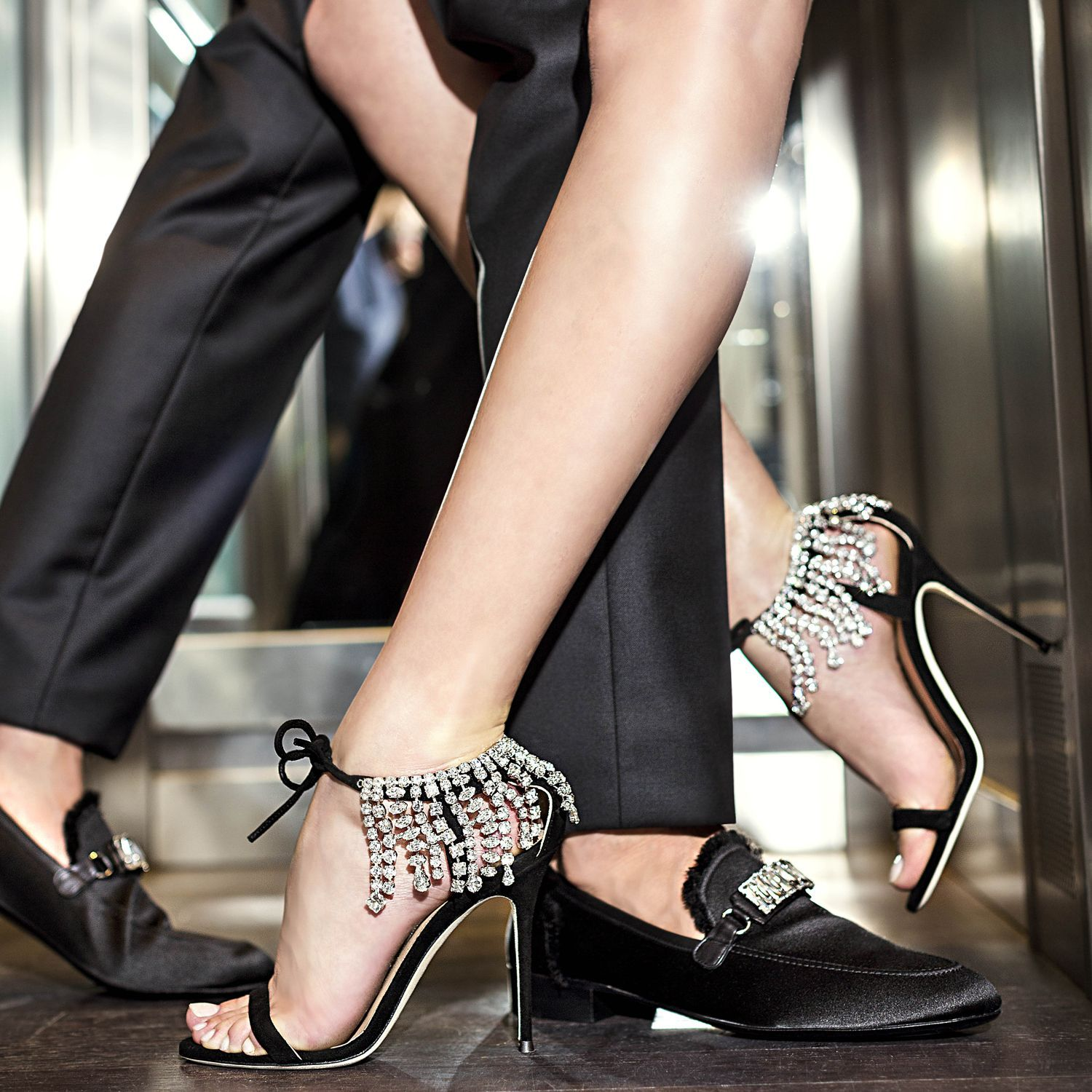 1cef8707e7e5 It may take two to tango. The WILLIAM satin loafers   the CARRIE crystal  embellished sandals.  GiuseppeZanotti
