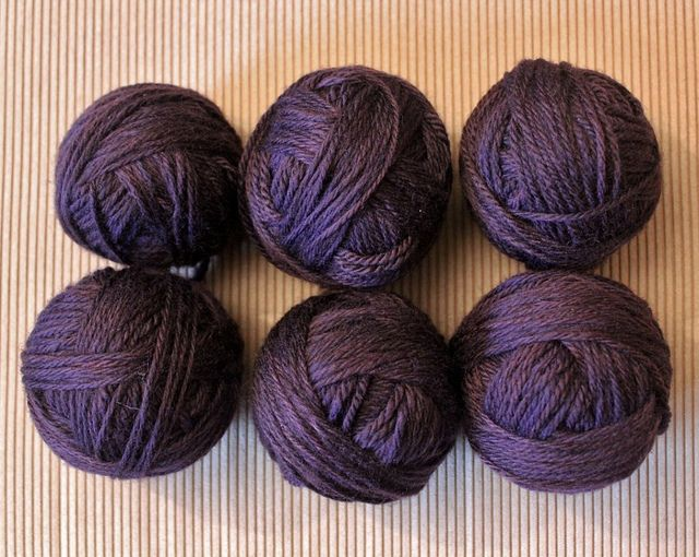 Balls of wool.