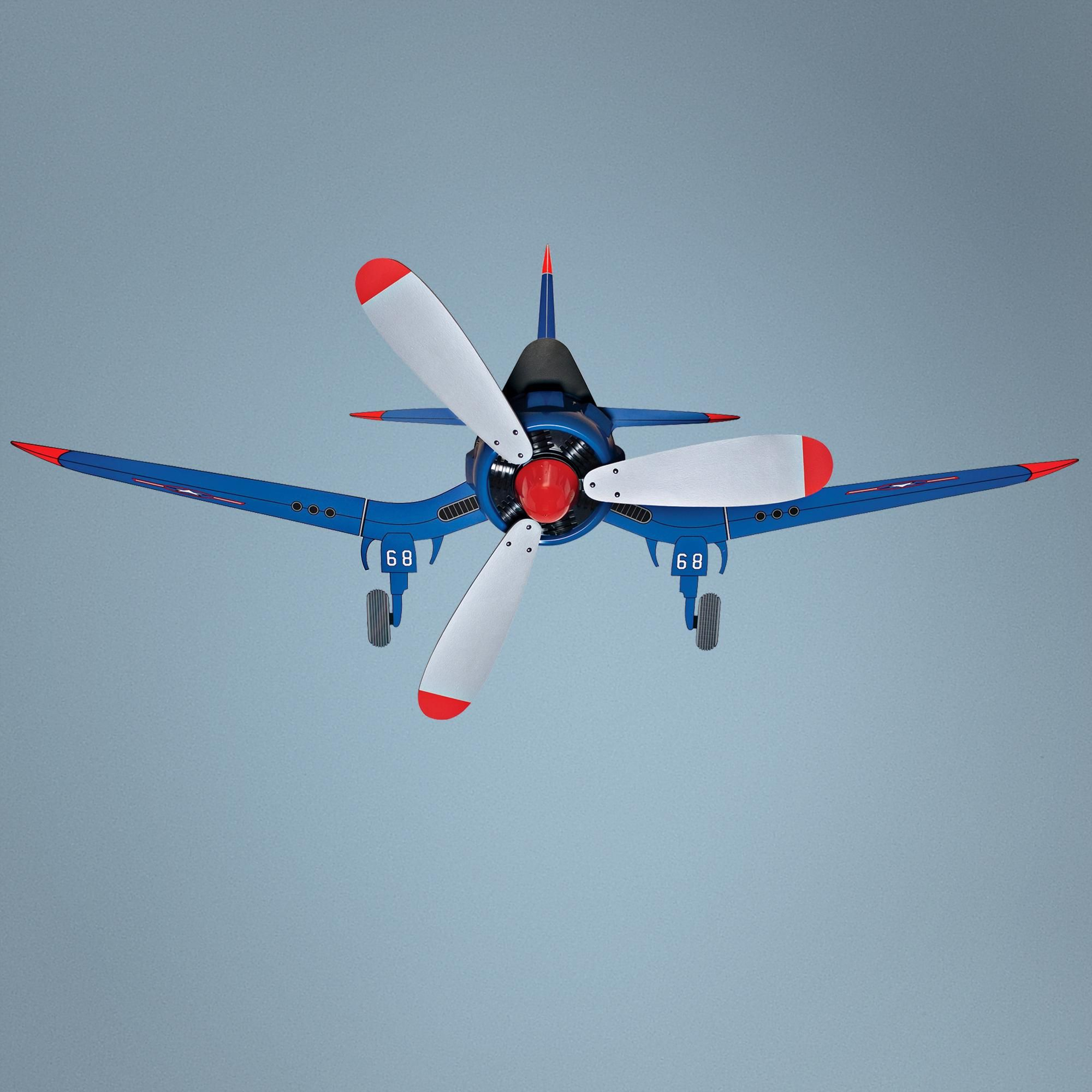 "48"" Fantasy Flyer Airplane Ceiling Fan"