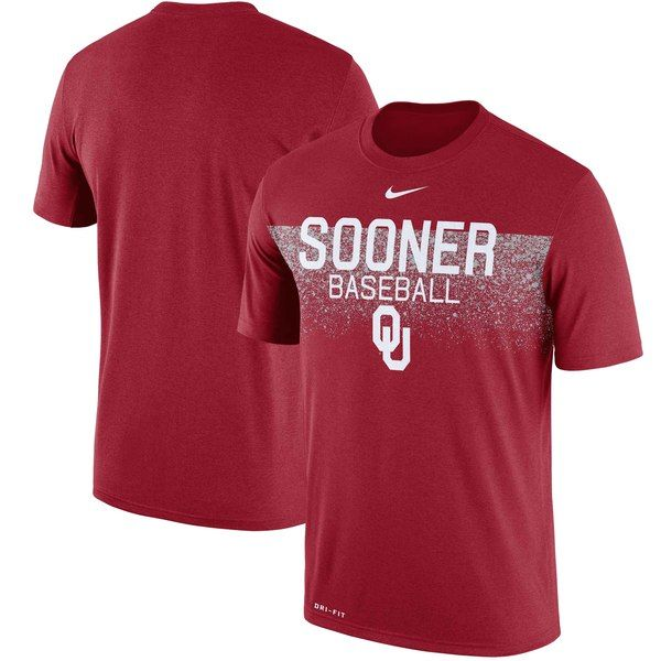 c5b04e1e Oklahoma Sooners Nike 2018 Baseball Team Issue Legend Performance T-Shirt -  Crimson #OklahomaSooners