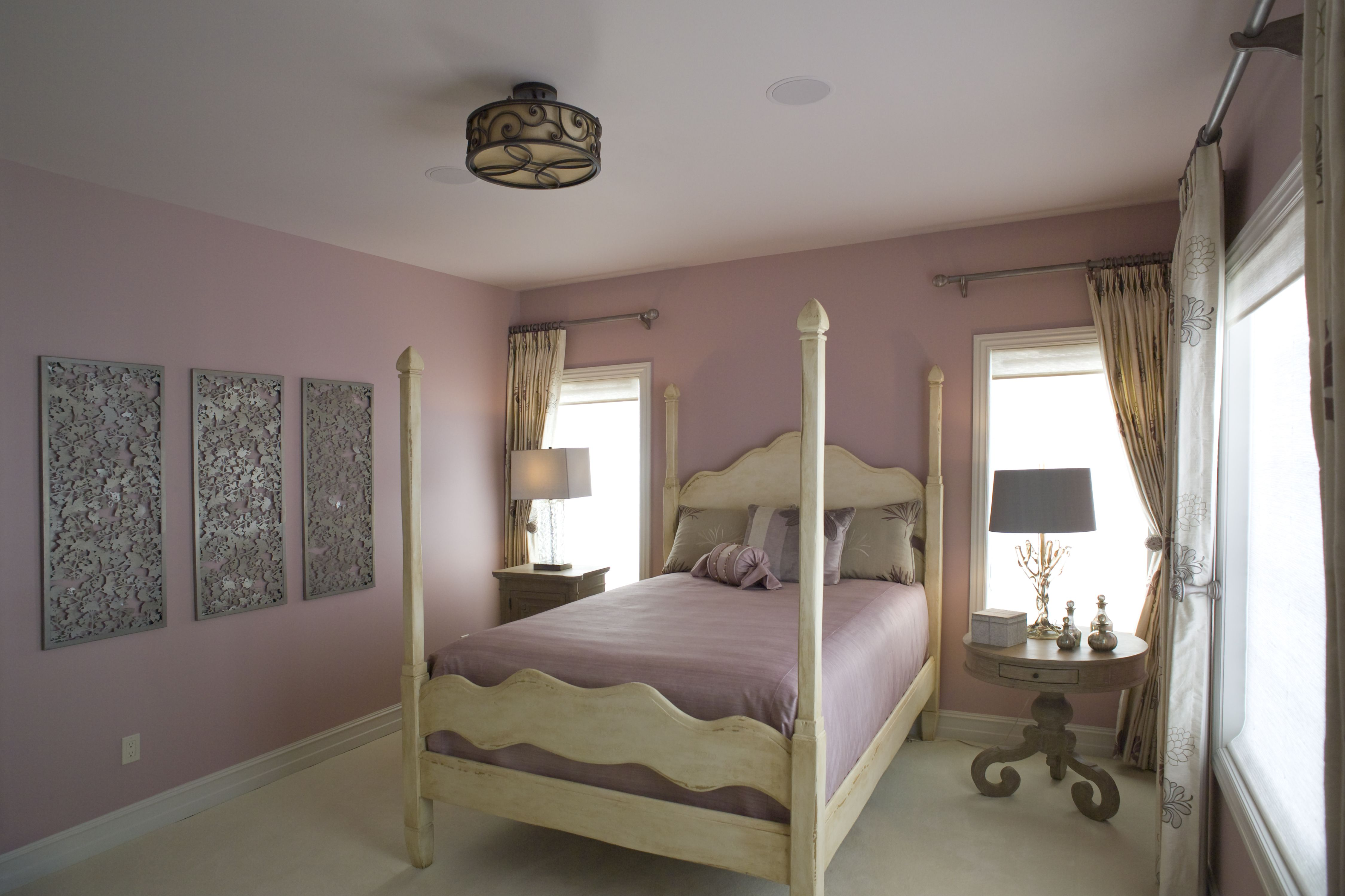 Sweet lavender themed bedroom by New Interior