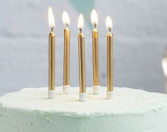 Candles Gold Standard Birthday