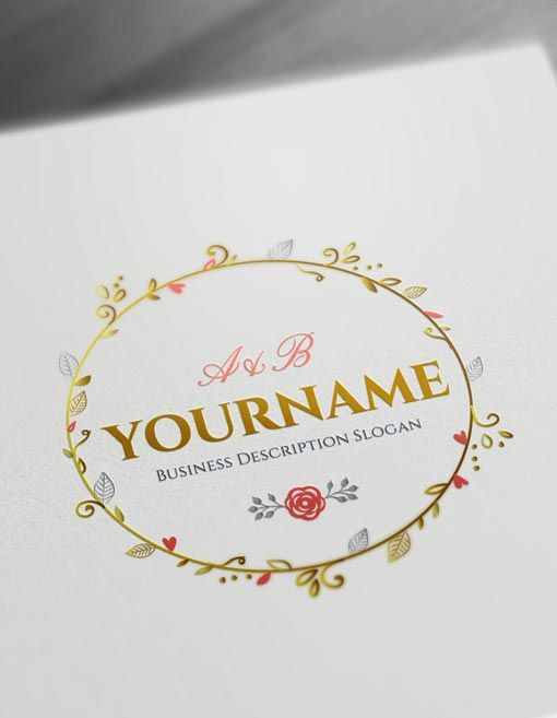 Online Floral Frame Logo Free Vintage Logo Maker | Pinterest ...