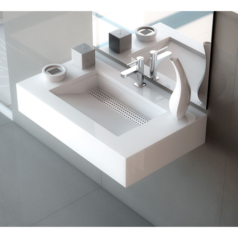 Lavabo con encimera simplicity lavabo elegante y ba os for Encimera bano silestone