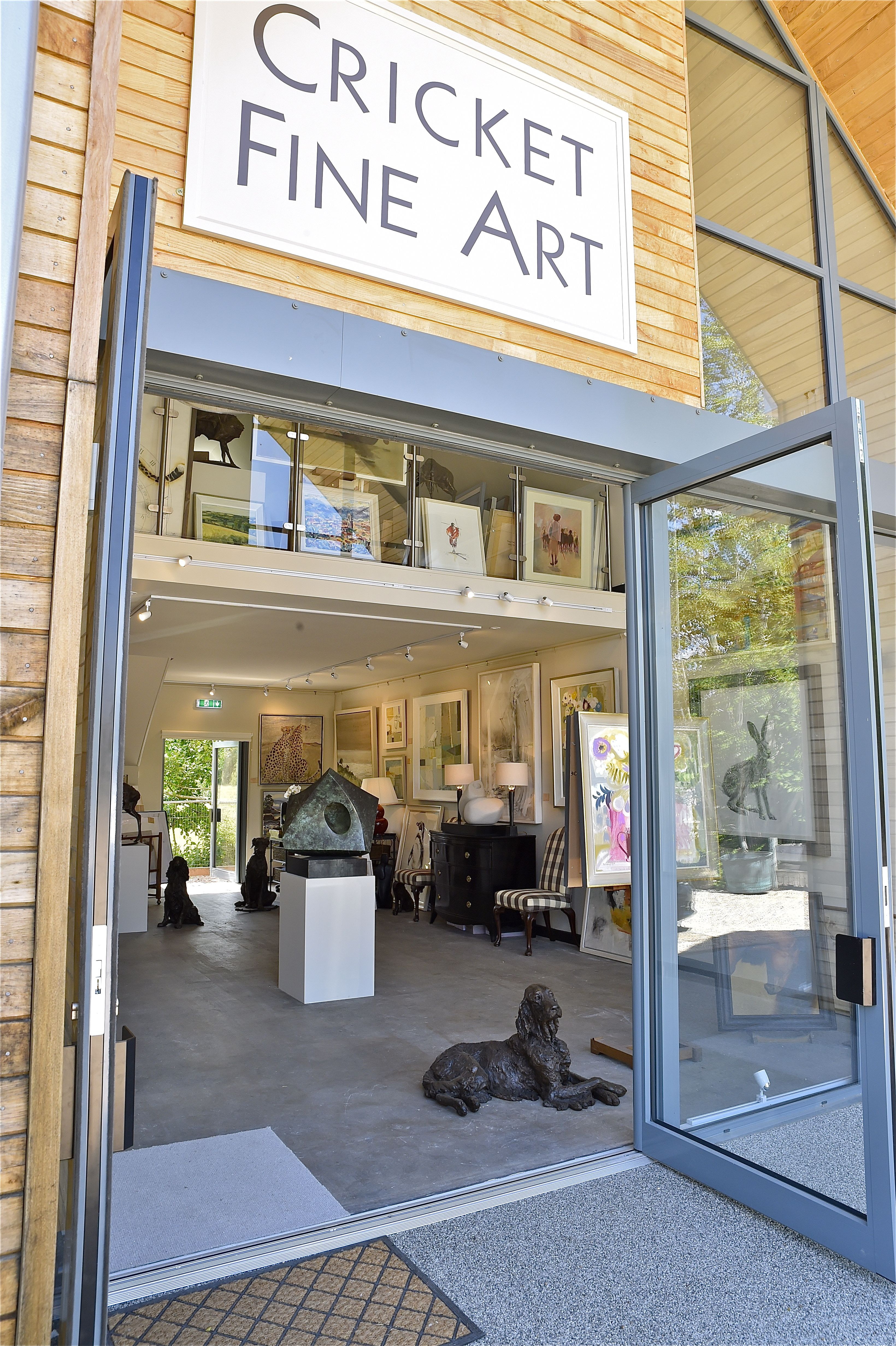 We are delighted to open our second gallery at Barr's Yard in Hungerford. Specializing in a range of contemporary and fine art paintings and sculptures, Cricket Fine Art offer a warm welcome to all! For directions click on the image and visit the site.