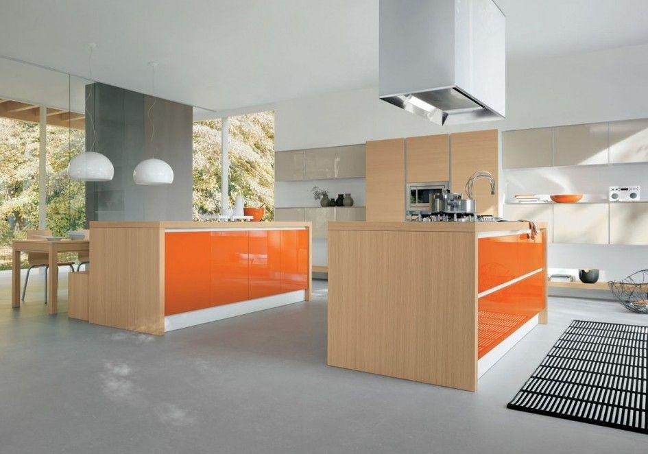 Best Decorations Cute Modern Kitchen Design Ideas With Orange 400 x 300