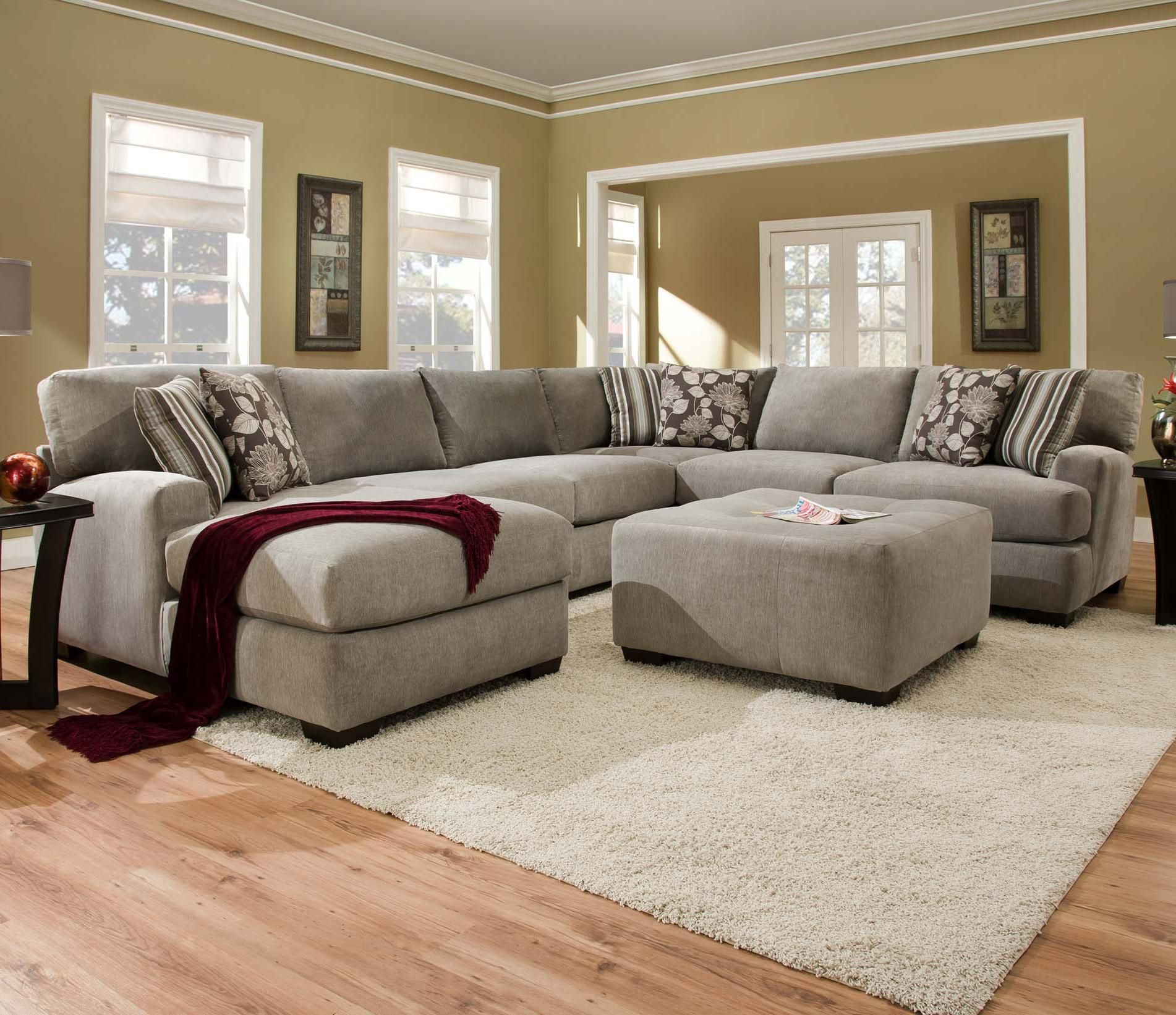 Sectional Sofa with 5 Seats 1 is a Chaise Alexandria VA