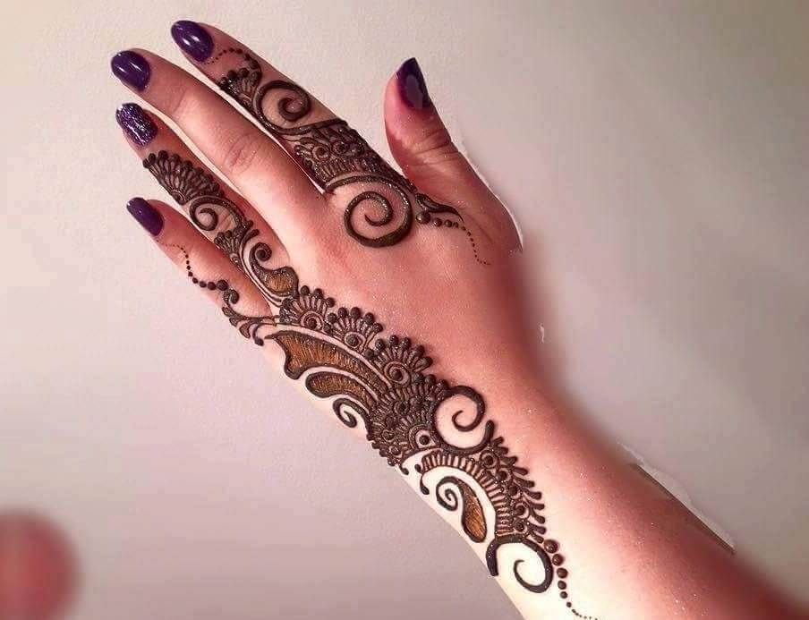 Arabic Mehandi Design Back Hand Mehndidesignforhand Mehndidesign